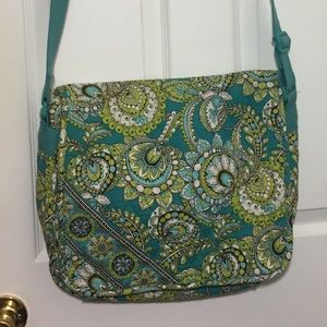Vera Bradley Peacock Laptop/Messenger Bag